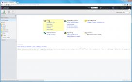 Dashboard zobrazený po přihlášení obsahuje nejčastěji používané nástroje dle role