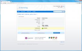 Závěrečná obrazovka testu s výsledkem, rozsah informací lze nastavit